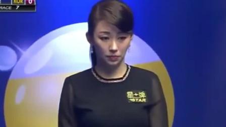 潘晓婷和韩国美女车侑蓝的比赛,不舍得错过任