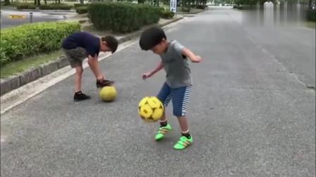 为什么国足总是输给日本?看看日本小学生的练球水平