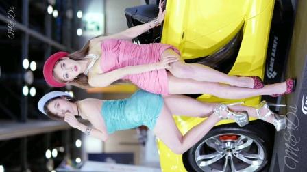 韩国美女车模双双飞