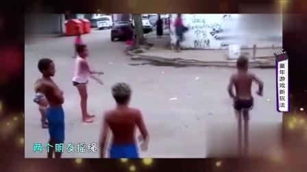 家庭幽默录像:解锁跳绳新玩法,男子教你一招
