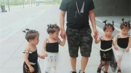 父亲带4胞胎蹭饭,奶奶看见后立刻关门,宝宝的话让奶奶敞开大门