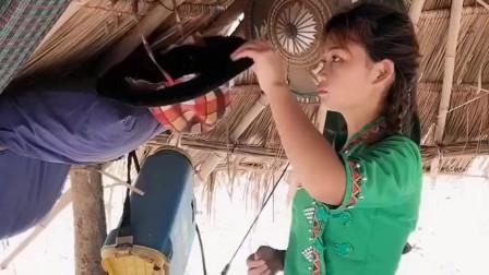 缅甸美女的真实生活,看完她住的地方,你还敢
