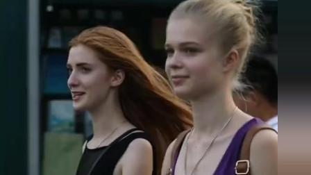 街拍:美照的幕后真相 两个外国小姐姐,你pic