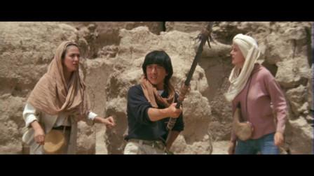 成龙大哥沙漠找黄金,带三个美女,揪心