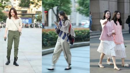 街拍:女子装潇洒工装风,这样的风格你喜欢吗?