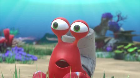 黑色幽默动画,倒霉的小龙虾捡到宝贝不翼而飞
