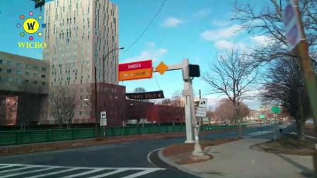 【美国纽约生活】:纽约自驾车到波士顿哈佛商学院,沿途真实街拍