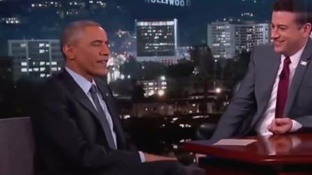 奥巴马离职总统后参加吉米脱口秀,幽默风趣调侃日常生活