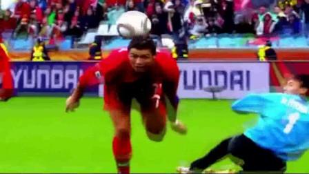 这球是c罗搓起来的,加上背部停球,是不是跟小