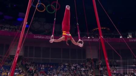 奥运会吊环集锦:力肌肉与力量的完美演绎,简