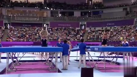 奥运会蹦床失误合集:蹦的高不一定跳得远,有