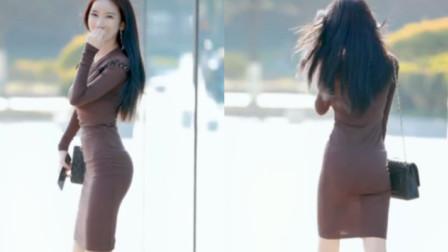 街拍:穿紧身包臀裙的小姐姐,这背影很迷人啊
