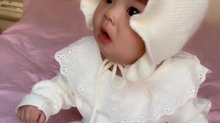 老婆给我生了这么可爱的小宝贝,将来肯定是个