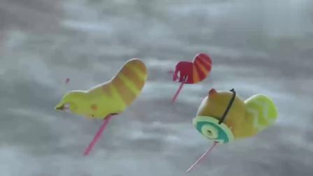 搞笑动画:小黄触碰风暴之眼,竟然解除了海岛