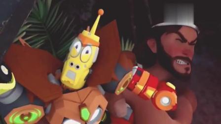 搞笑动画:野人变身成机器战士!现在该怎么对