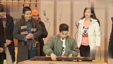 从没接触过中国古琴的刘宪华,只试了一下就弹