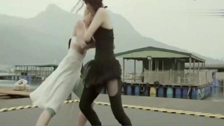 两大美女高手比武,强强对决精彩刺激,最后黑