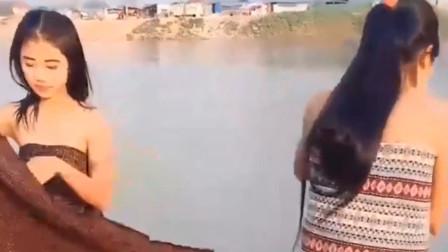 缅甸美女在户外就换起了衣服,不会脸红吗?