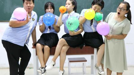 学霸王小九:体育老师用吹气球作考试成绩,没