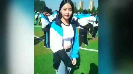 现在中国的校服都那么好看了吗 美女校花穿了那