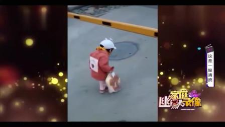 家庭幽默录像:宝宝过升降栏杆走的就是仪式感