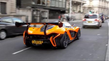 【 街拍】伦敦超跑 街拍Mclaren P1 LM 、GTR