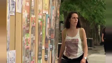 国外街头恶搞:突然有一个人在面前破墙而出,