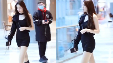 【街拍】穿紧身包臀裙的美女,前凸后翘好身材