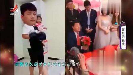 家庭幽默录像:老公带娃怨气满满,老婆慢慢递