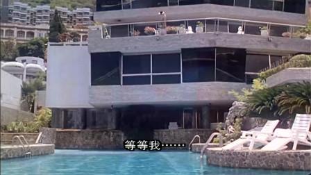 刚起床就看到楼下泳池有美女在游泳!星星一路