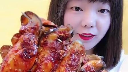 大胃王:农村美女爆头八爪鱼,全身通红彤彤,