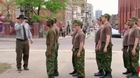 国外爆笑街头恶搞整蛊:匪夷所思的新兵训练,
