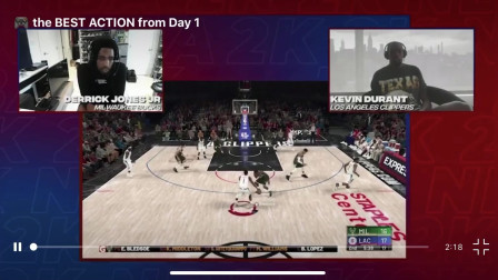 "NBA球员官方2K大战首日""比赛""集锦"