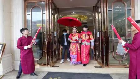 四川一美女远嫁广西小伙,在酒店出嫁,新郎隆