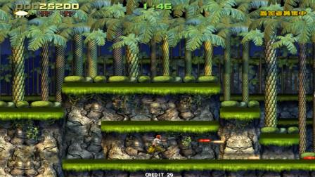 射击游戏魂斗罗街机版,增加了女性角色,双枪