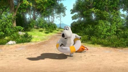贝肯熊:贝肯熊来游泳,他又会遇到什么糗事,