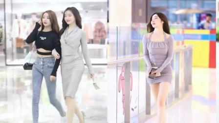 街拍美女:据说婚前都喜欢左边,婚后都喜欢右边