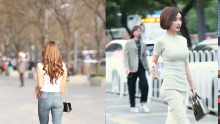 街拍美女:这么长腿不去骑自行车可惜了