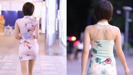 街拍美女:穿旗袍也能穿得这么时尚的小姐姐!