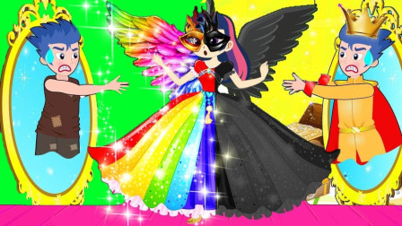 紫悦捡到一支彩虹羽毛笔会发生什么呢?小马国女孩游戏