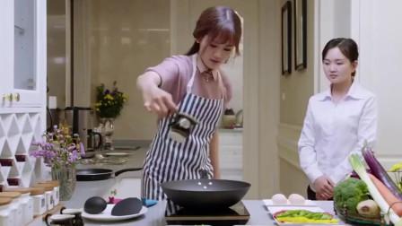 女朋友第一次学做饭的样子。