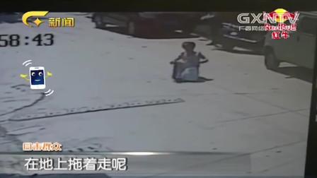 女子路中遭遇 飞车 抢劫 女子被劫匪拖行数百米 监控拍下全程