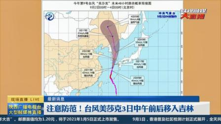 最新消息 注意防范 台风美莎克3日中午前后移入吉林