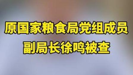 原国家粮食局党组成员 副局长徐鸣涉嫌严重违纪违法 目前正接受中央纪委国家监委纪律审查和监察调查