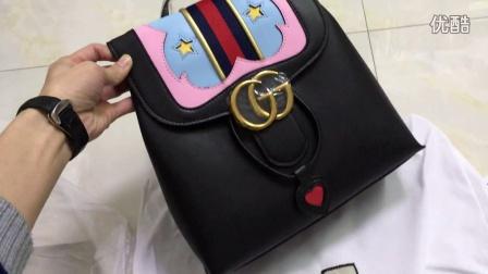 Gucci双肩包女包 GG Marmont 真皮背包 432265 DLXMT 8767古奇古琦古驰真皮原单奢侈品高仿精仿名牌奢侈品购买加微信375959018