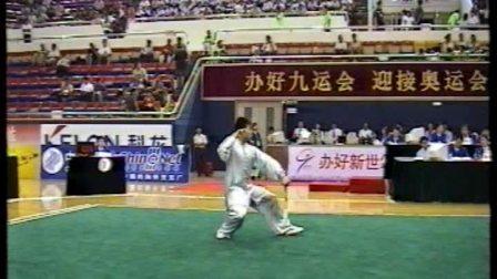 2001年第九届全运会武术套路比赛 男子太极剑 005 运动员