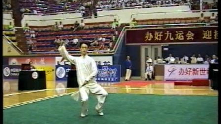 2001年第九届全运会武术套路比赛 男子太极剑 014 运动员