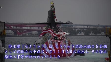 【引渡式 自衛艦旗授与式】潜水艦「せきりゅう」引渡式 自衛艦旗授与式~海上自衛隊~