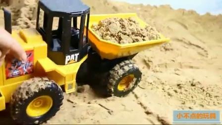 儿童男孩玩具工程车 挖掘机寻宝 596