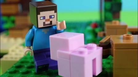[亲子]★我的世界★Minecraft《籽岷的MC乐高玩具定格动画 和Reuben在一起》